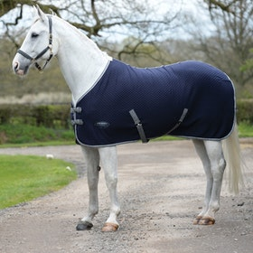 Weatherbeeta Thermic Quilt Standard Neck Cooler Rug - Navy Grey White