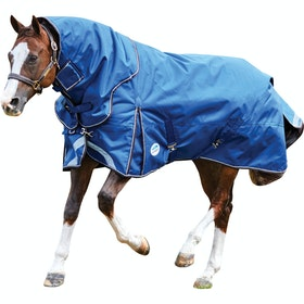 Weatherbeeta ComFitec Ultra Tough Heavy Detach-A-Neck Turnout Rug - Blue Charcoal White