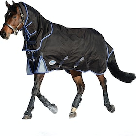 Weatherbeeta ComFiTec Ultra Cozi Heavy Detach A Neck Turnout Rug - Charcoal Blue White