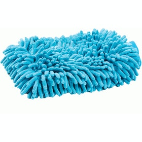 Roma Microfibre Wash Grooming Mitt - Blue