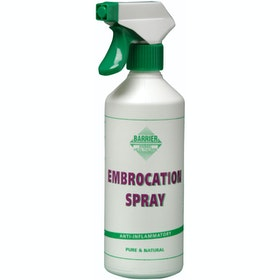Barrier Embrocation Spray Horse First Aid - White