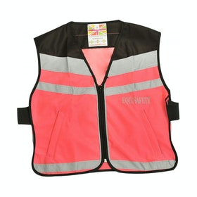 Equisafety Plain Air Reflective Waistcoat - Pink