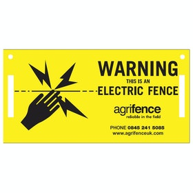 Agrifence Warning Signs for Elektrozaun - Yellow