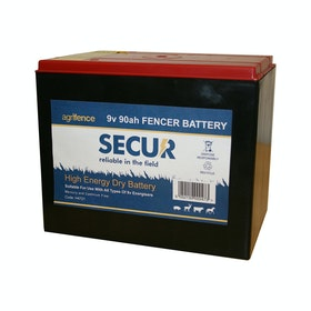 Agrifence 9V-90AH Dry Battery for Elektrozaun - Black