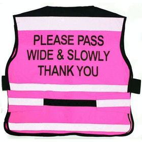 Equisafety Adjustable Please Pass Wide & Slow Air Reflective Waistcoat - Pink