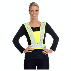 Equisafety Lightweight Body Reflective Harness - Yellow