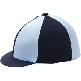 Hy Two Tone Lycra Hat Cover - Navy Pale Blue