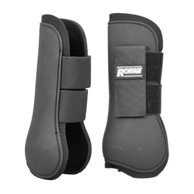 Roma Open Front Tendon Boots - Black