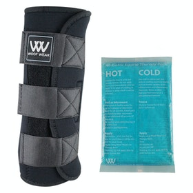 Woof Wear Ice with Gel Packs Therapy Horse Boot - Black
