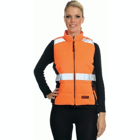 Equisafety Quilted Ladies Reflective Waistcoat - Orange