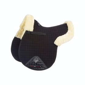 Tapis de selle LeMieux Lambskin GP/Jumping Half Lined - Natural/Black