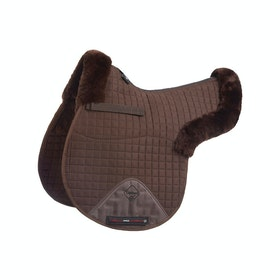 Tapis de selle LeMieux Lambskin GP/Jumping Half Lined - Brown