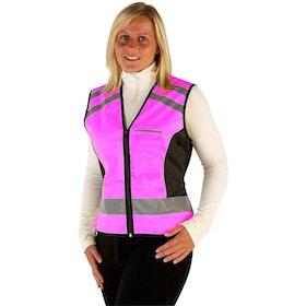 Hy Viz Please Pass Wide & Slow Reflecterend Gilet - Pink Black