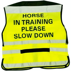 Chaleco reflectante Equisafety 'Horse in Training' Air - Yellow