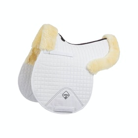 Tapis de selle LeMieux Lambskin GP/Jumping Half Lined - Natural/White