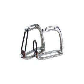 Korsteel Stainless Steel Peacock Stirrup Irons - Silver