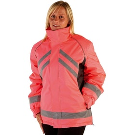 Hy Viz Waterproof Riding Reflektierende Jacke - Pink Black