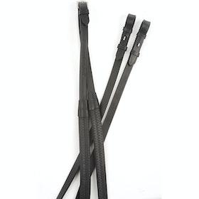 Kincade Rubber Reins - Black