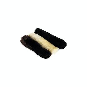 Accessorio per la Briglia LeMieux Lambskin Noseband Cover - Black