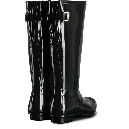 Hunter Original Back Adjustable Gloss Ladies Wellingtons