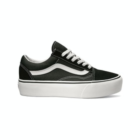 Vans Old Skool Platform , Sko - Black White