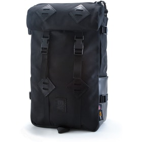 Topo Designs Klettersack 22L Backpack - Ballistic Black Black Leather