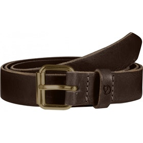 Fjallraven Singi 2.5cm Leather Belt - Leather Brown