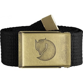 Fjallraven Canvas Brass 4cm Web Belt - Black