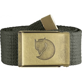 Fjallraven Canvas Brass 4cm Web Belt - Mountain Grey