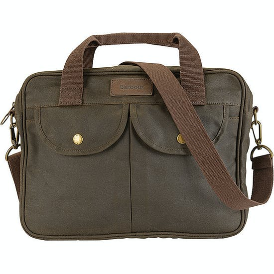 Barbour Wax Longthorpe Laptop Messenger Taske
