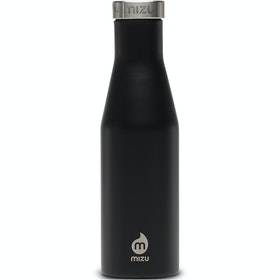 Mizu S4 w Stainless Steel Cap Flask - Black