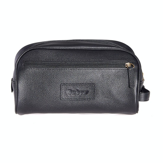 Barbour Leather Wash Bag