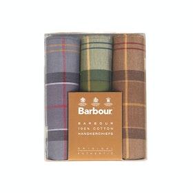 Barbour Classic 3 Boxed Handkerchief - Classic Tartan Assorted