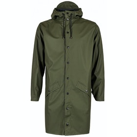 Rains Long Jacke - Green