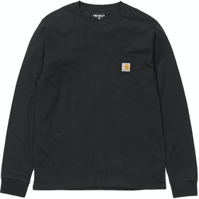 Carhartt Pocket 長袖 T シャツ - Black