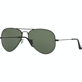 Ray-Ban Aviator Large Sunglasses - Shiny Black