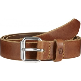 Fjallraven Singi 2.5cm Leather Belt - Leather Cognac