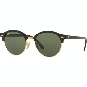 Ray-Ban Clubround Livsstil solbriller - Black ~ Green
