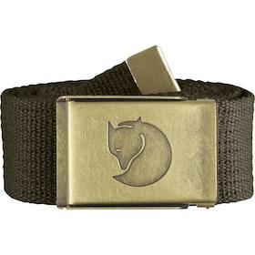 Fjallraven Canvas Brass 4cm Web Belt - Dark Olive