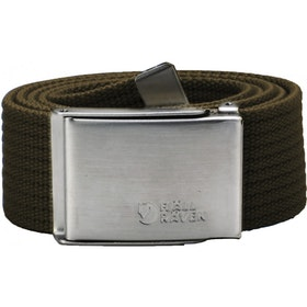 Fjallraven Canvas Web Belt - Dark Olive