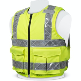 PPSS Hi Vis Cover For Overt Vest - Hi Vis Yellow
