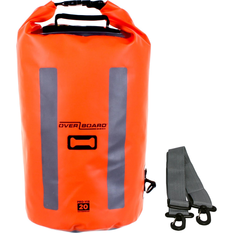 OVERBOARD 20L Orange Pro-Vis Waterproof Backpack Rucksack Bag
