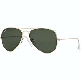 Ray-Ban Aviator Large Sunglasses - Gold ~ Grey Green