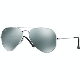 Ray-Ban Aviator Large Livsstil solbriller - Silver ~ Crystal Grey Mirror