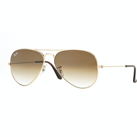Ray-Ban Aviator Large Livsstil solbriller - Gold ~ Crystal Brown Gradient