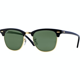 Ray-Ban Clubmaster Sunglasses - Ebony Arista ~ Crystal Green