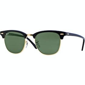 Солнцезащитные очки Ray-Ban Clubmaster - Ebony Arista ~ Crystal Green