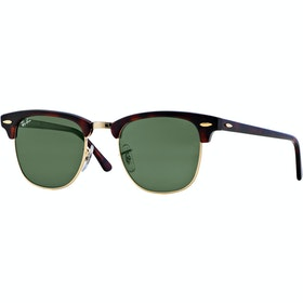 Ray-Ban Clubmaster Zonnebril - Mock Turtle Arista ~ Crystal Green