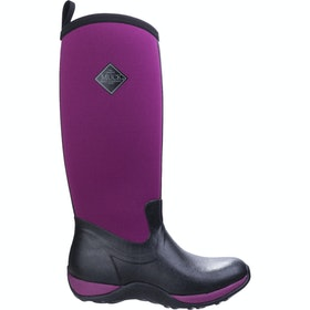 Muck Boots Arctic Adventure Ladies Wellingtons - Black Maroon