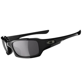 Óculos de Sol Oakley Fives Squared Polarizado - Polished Black ~ Black Iridium
